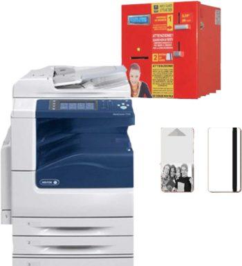 Distributore Di Card Usa E Getta A Gettoni + Sistema Di Stampa Multifunzione